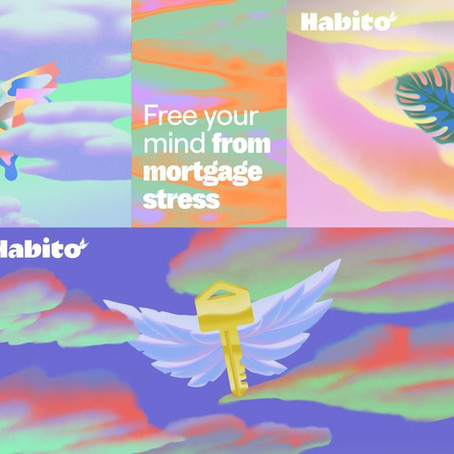 """Habito takes fintech branding to a whole new level with its new """"phantasmagoric"""" identity"""