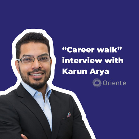 """Career walk"" with Karun Arya of Oriente: Your marketing is as good as your last customer review"