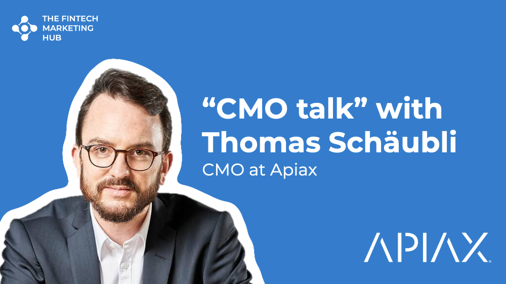 CMO talk with Thomas Schaubli of Apiax Banner