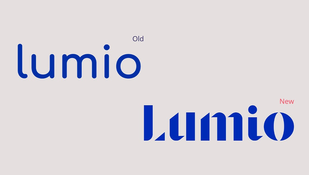 Lumio new and old logos