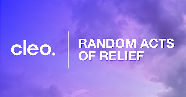 Random Acts of Relief by Cleo
