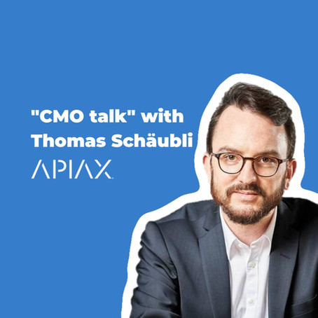 """CMO talk"" with Thomas Schäubli of Apiax: Why best marketing involves the product team"