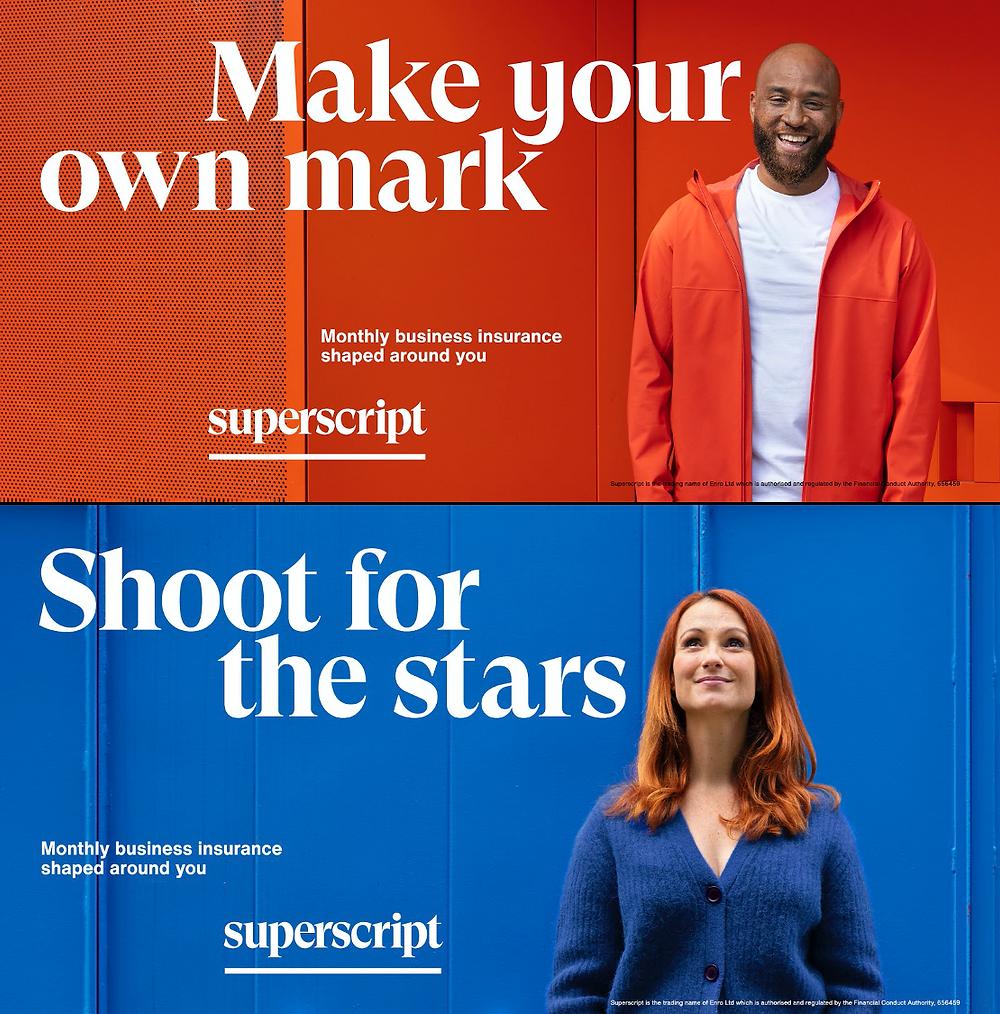 Superscript advertising banners