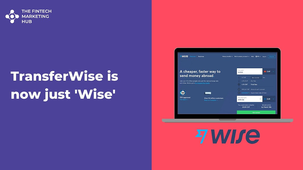 Transferwise is now Wise Banner