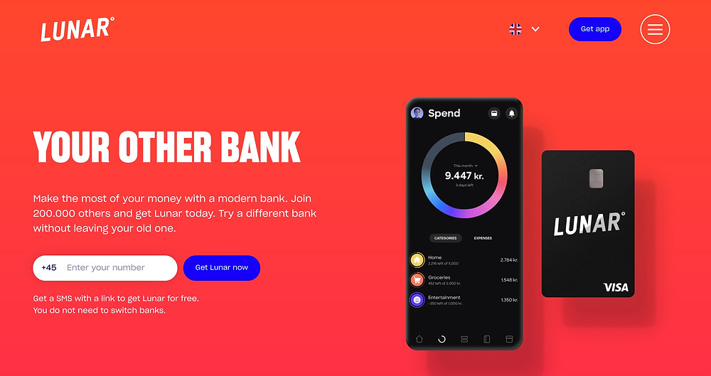Your other bank: Lunar banner