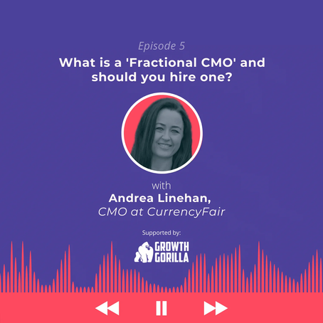 """Market like a fintech: What is a """"Fractional CMO""""? with Andrea Linehan"""