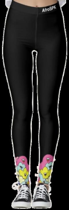 AfroSPK_TastyClouds_Black Leggings_front