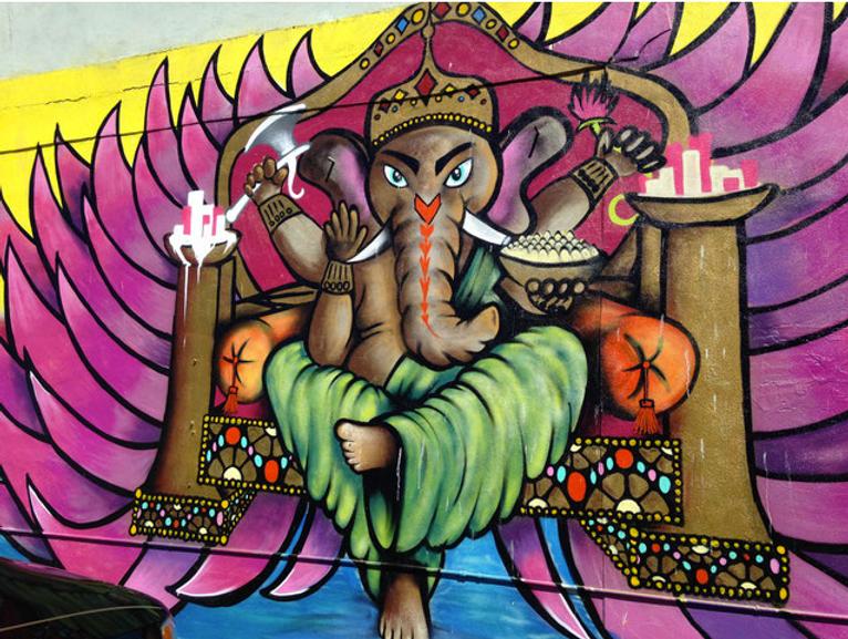 AfroSPK_Ganesh_Mural_Spray_Paint_Olympia