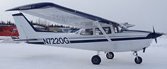 Cessna 172 at Fairbanks airport