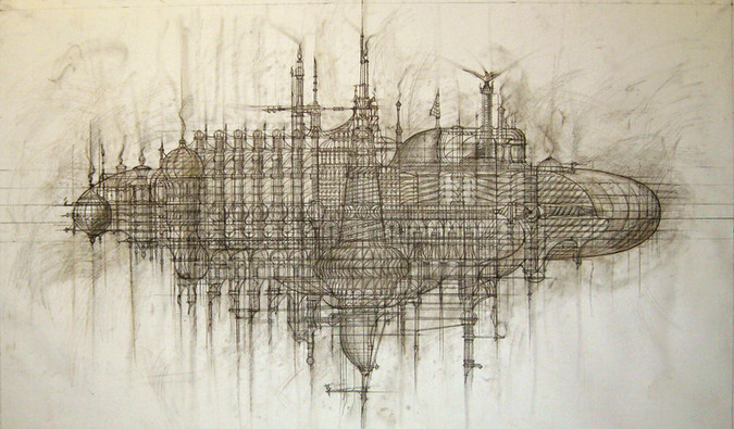 The Ark. Graphics on canvas