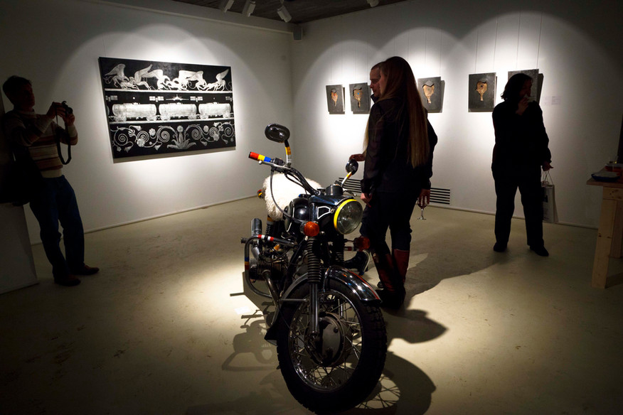 "Anton Chumak, ""Black Earth"". Art exhibition in Moscow."