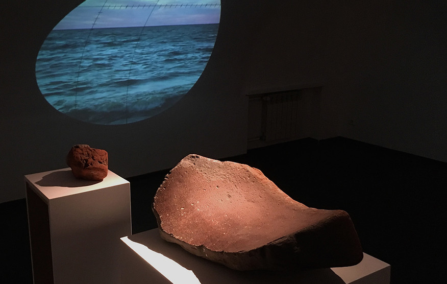 """Video Art, found objects, """"Prologue"""" video installation"""