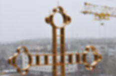 Крест из нержавеющей стали с покрытием нитридом титана