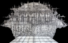 Картина «Новая Земля». Холст, уголь, акрил, лак