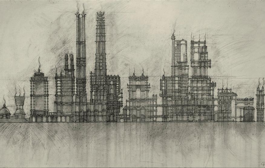Проект «Храм огня». Графика на холсте
