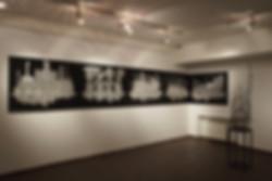 Проект «Соль». Экспозиция выставки. Графика на холсте.