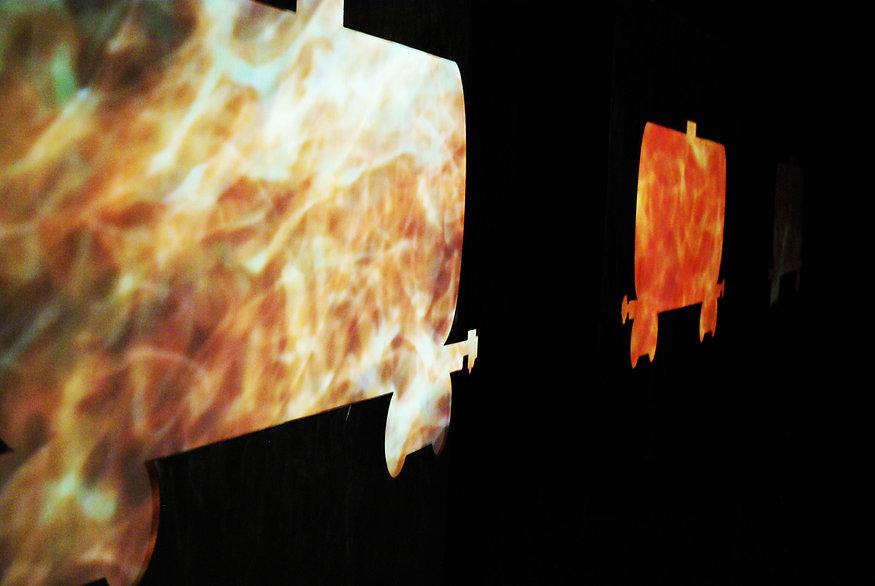 "Multi-channel video installation. ""Oil"", Anton Chumak"