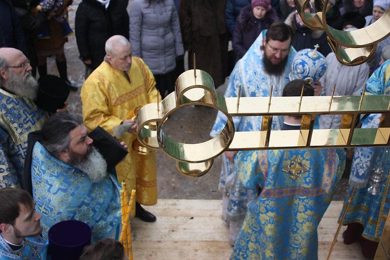 Освящение крестов Благовещенского Собора