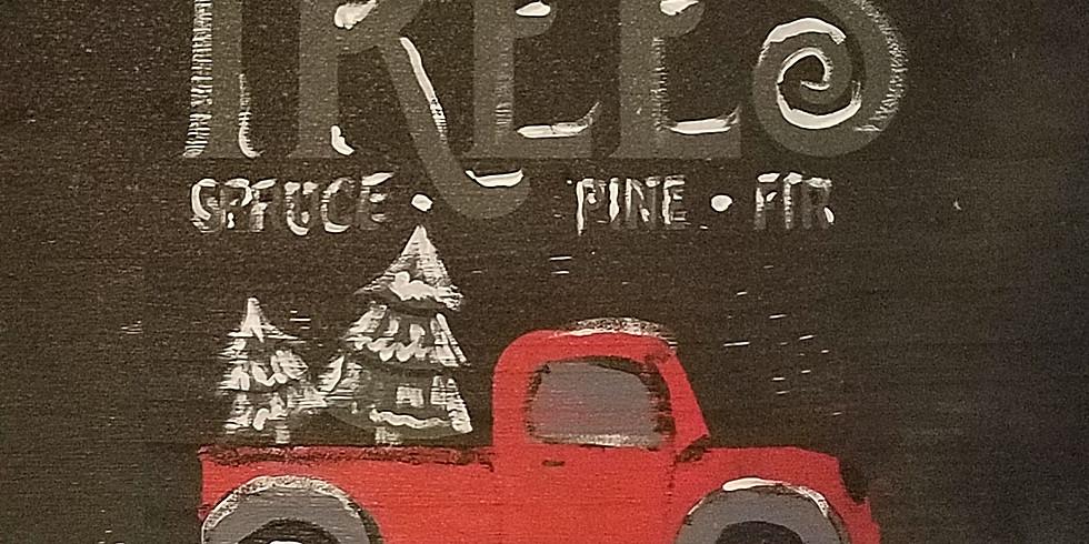 Vintage Christmas Tree Truck/Sleigh