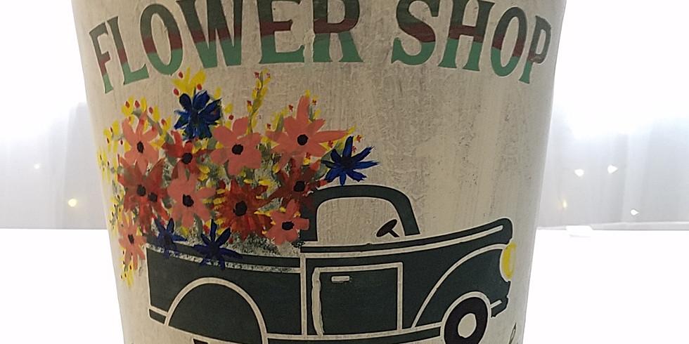 JUNKCHIQUE Spring Sap Bucket workshop-Please indicate stencil choice at Junkchique@yahoo.com
