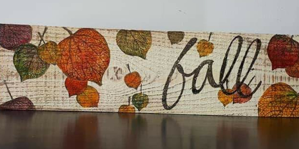 JUNKCHIQUE Create A Fall Sign