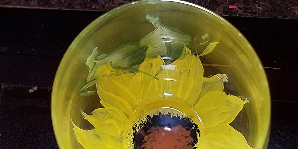 Sunflower stemless wine goblets