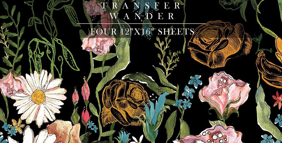 Wander Decor Transfer (4) 12x16 sheets