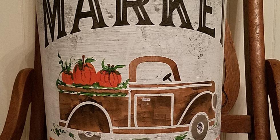JUNKCHIQUE Pumpkin Truck Sap Bucket