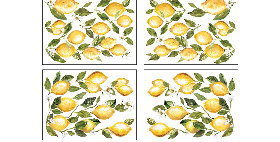 Lemon Drops Decor Transfer 12x33
