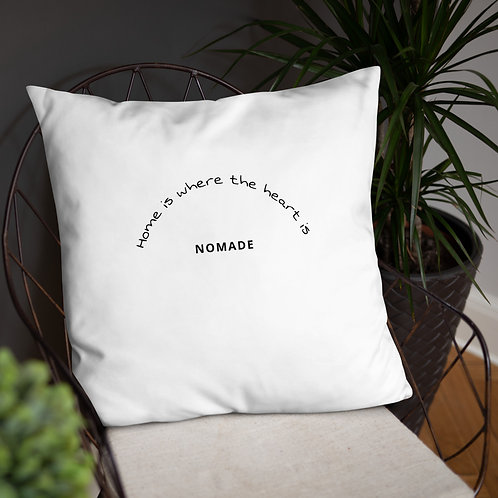 """Coussin """"Home is where the heart is"""" c"""
