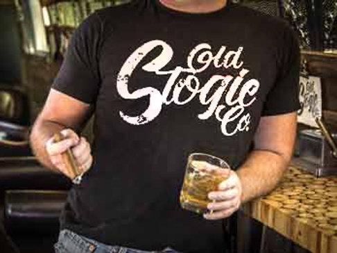 Mens Old Stogie T-Shirt - White Print