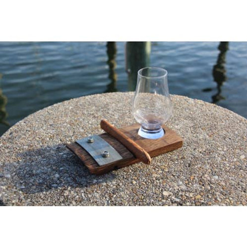 Coaster with Cigar Holder