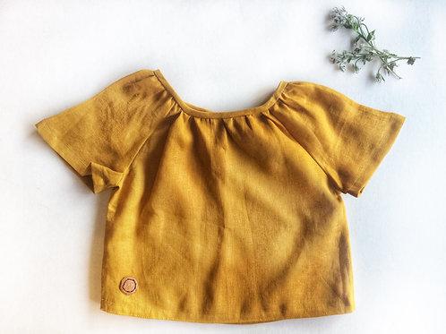 Tee - Mustard Organic Linen