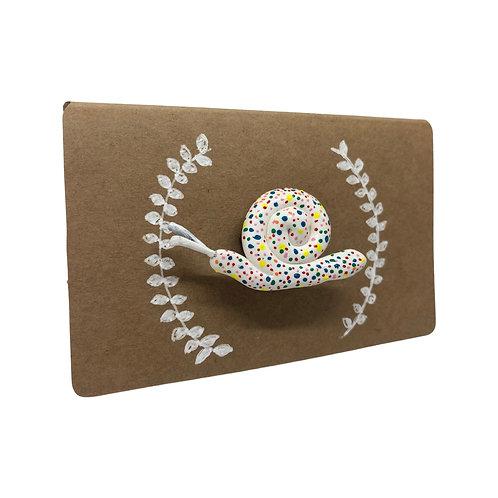 Spotty Snail - Brooch