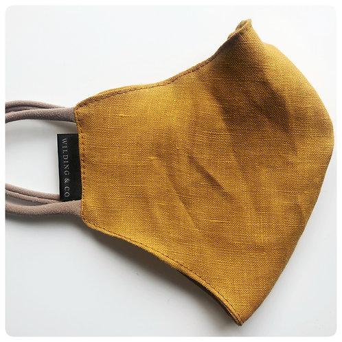 Linen Mask - Mustard