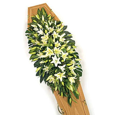 Lily coffin spray