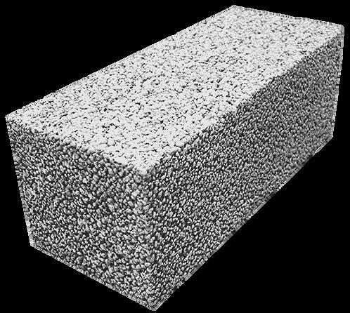 Полнотелый керамзитобетонный блок «ТермоКомфорт» ПБ 250/3