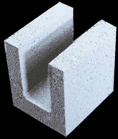 Керамзитобетонный блок для перемычек «ТермоКомфорт» ПРБ 200