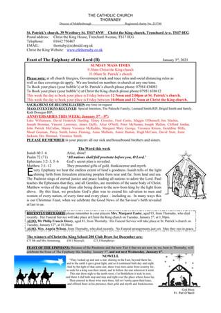 Parish Bulletin: January 2