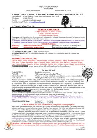 Parish Bulletin: June 12
