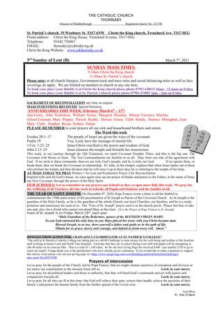 Parish Bulletin: March 6