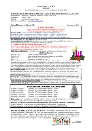 Parish Bulletin: December 5