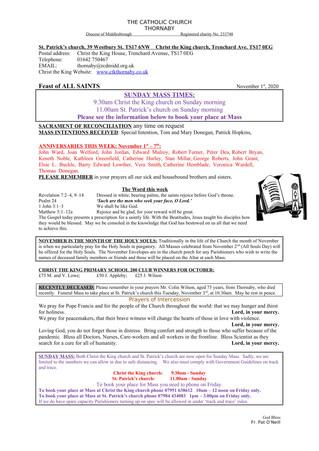 Parish Bulletin: October 31
