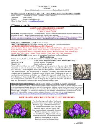 Parish Bulletin: February 27