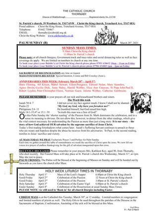 Parish Bulletin: March 27