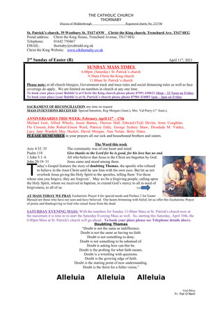 Parish Bulletin: April 10