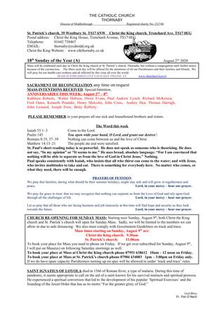 Parish Bulletin: August 1