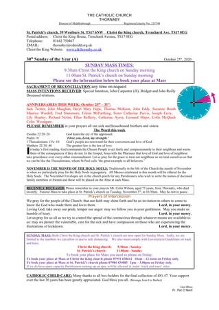 Parish Bulletin: October 24
