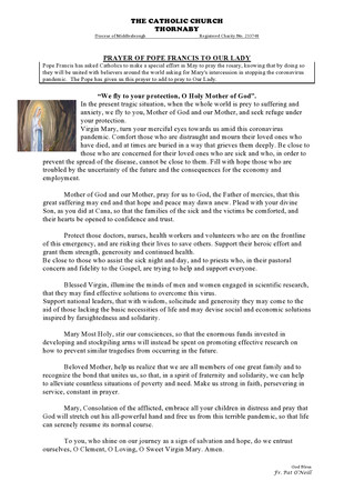 Parish Bulletin - May 2