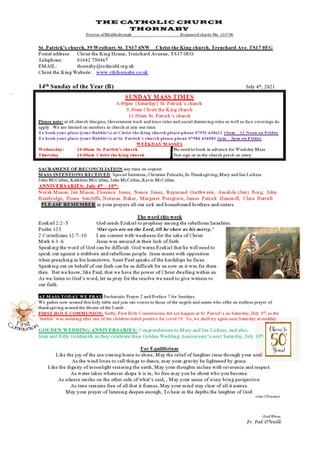 Parish Bulletin: July 3